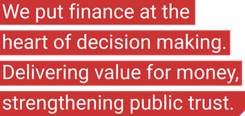 We put finance at the heart of decision making. Driving the agenda, not just keeping score.